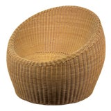 Image of Rattan Ball Chair Attributed to Isamu Kenmochi for Yamakawa Rattan For Sale