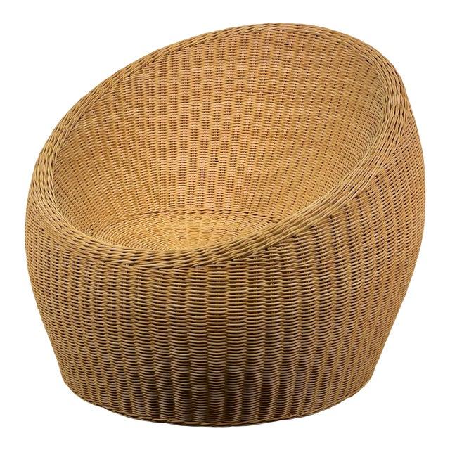 Rattan Ball Chair Attributed to Isamu Kenmochi for Yamakawa Rattan For Sale