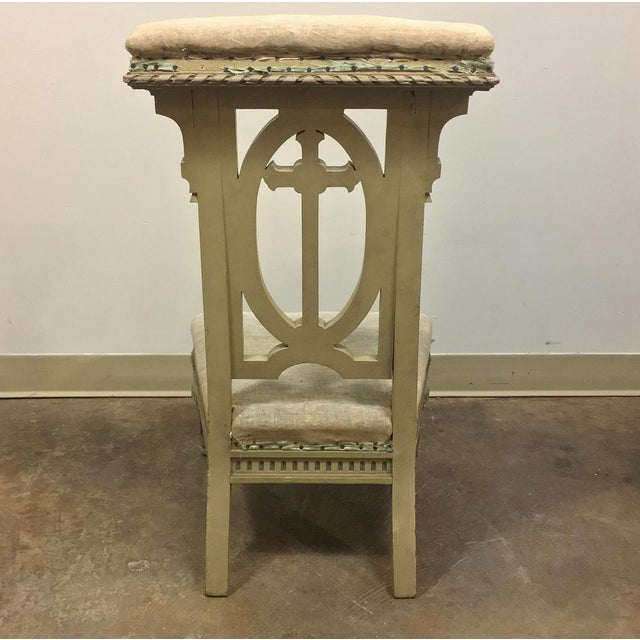 19th Century Italian Neoclassical Painted Prayer Kneeler - Prie Dieu is the perfect and elegant choice for your devotional...