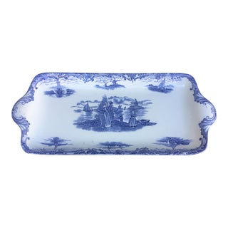 Late 19th Century Wedgwood Hague Rectangular Serving Tray, England For Sale