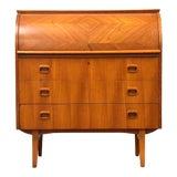 Image of Egon Ostergaard Teak Secretary Desk For Sale