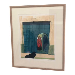 Vintage Mid-Century Signed Gilberto Almeida Print For Sale