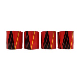 Set of Four Vintage Studio Nova Jazz Red Mugs For Sale