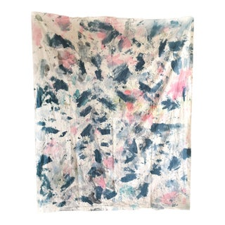 Sustainable Hand Treated Textile - One of a Kind For Sale