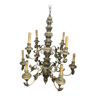 1950's Vintage French Chandelier For Sale