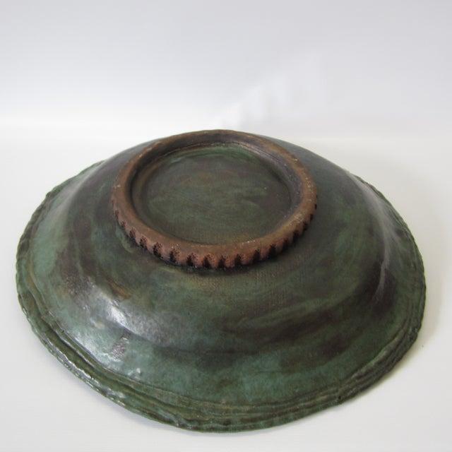 Large Ceramic Green Bowl - Image 6 of 11