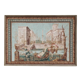 French Zuber Wallpaper Neoclassical Screen, Framed For Sale