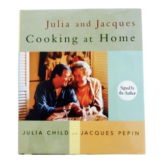 """""""Julia and Jacques Cooking at Home"""" Signed Julia Child & Jacques Pepin Book"""
