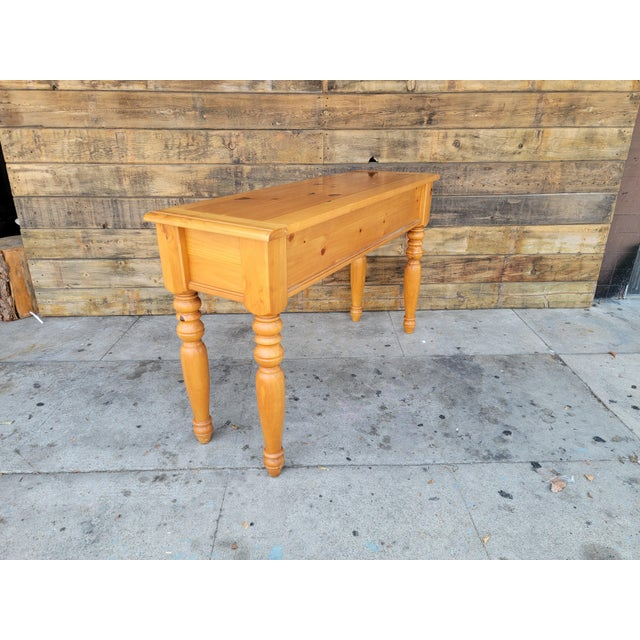 Goldenrod 1980s Rustic Console Table with Drawers For Sale - Image 8 of 13