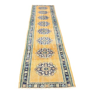 1960s Vintage Turkish Runner Rug - 2′7″ × 10′8″ For Sale