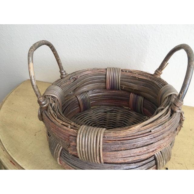 Rustic Wicker Basket, Vintage Holiday Decor - Image 4 of 7