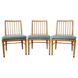 Set of Three Scandinavian Modern Spindle Back Chairs For Sale