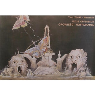 1975 Vintage Polish Opera Poster, Tales of Hoffman For Sale