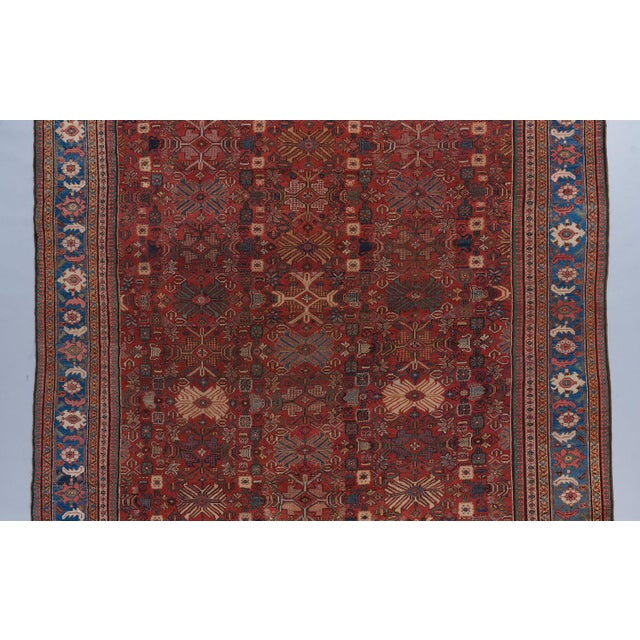Traditional Tomato Red Ground Oversized Mahal Carpet For Sale - Image 3 of 4