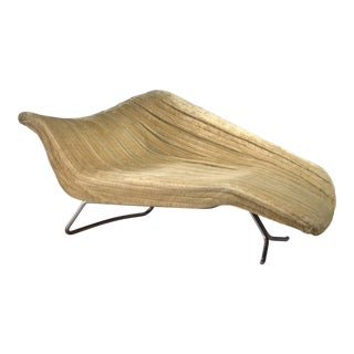 Rare Hans Hartl Sculptural Chaise Longue, Germany, 1950s For Sale