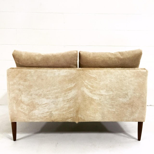 Forsyth One of a Kind Danish Loveseat in Brazilian Cowhide For Sale In Saint Louis - Image 6 of 7