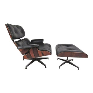 Mid-Century Modern Herman Miller 670 Lounge Chair with Ottoman by Charles Eames
