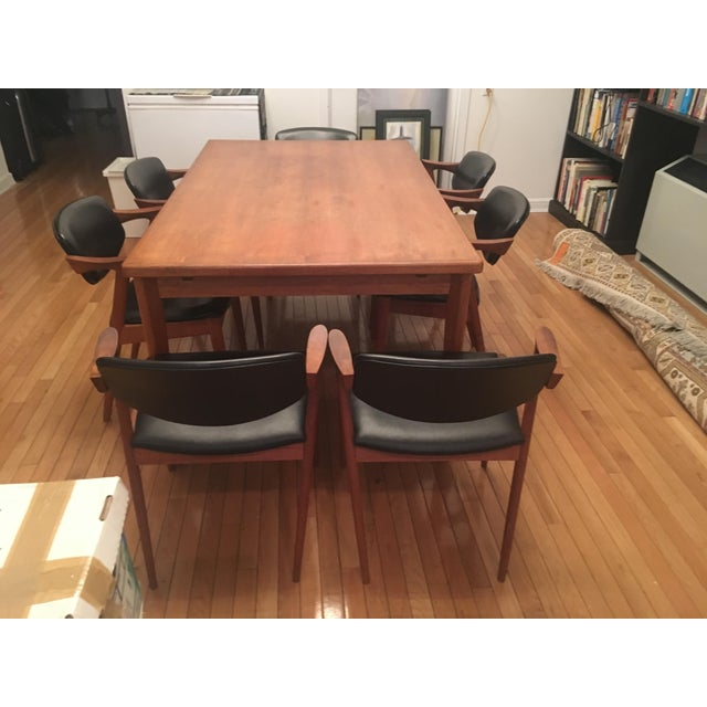 Brdr Furo Danish Dining Table & Kai Kristiansen Teak Chairs - Set of 8 For Sale - Image 10 of 10
