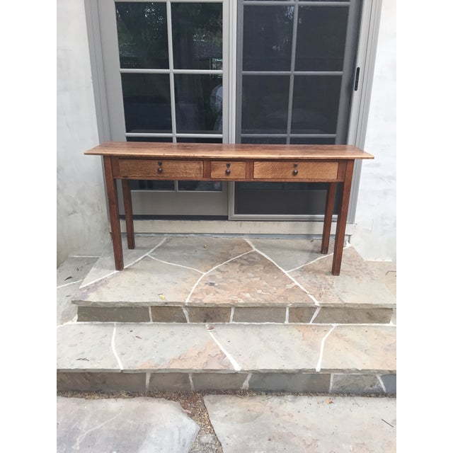Antique Three-Drawer Console Table - Image 2 of 11