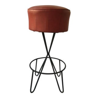 1950s Frederick Weinberg Iron Bar Stools For Sale