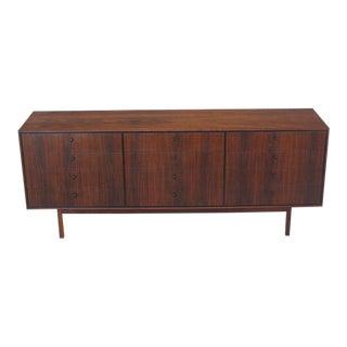12 Drawers Oiled Walnut Mid Century Modern Long Dresser Credenza Danish