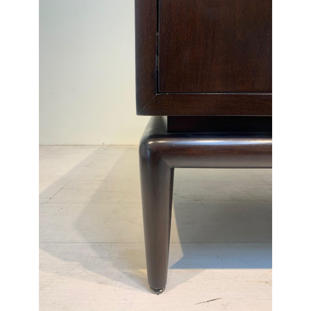 1960s Monteverdi-Young Dark Mahogany Inlaid End Tables - a Pair For Sale In Los Angeles - Image 6 of 8