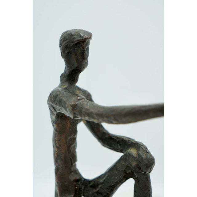 Mid 20th Century Vintage Bronze Golfer on the Green Sculpture For Sale - Image 5 of 9