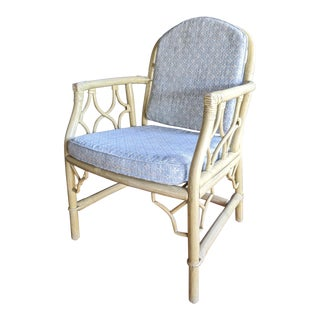Chippendale Rattan Armchair For Sale