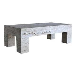 Travertine Coffee Table 1980 For Sale