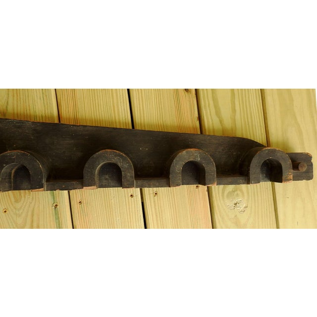 Vintage Wood Industrial Foundry Mold Pediment For Sale - Image 5 of 8