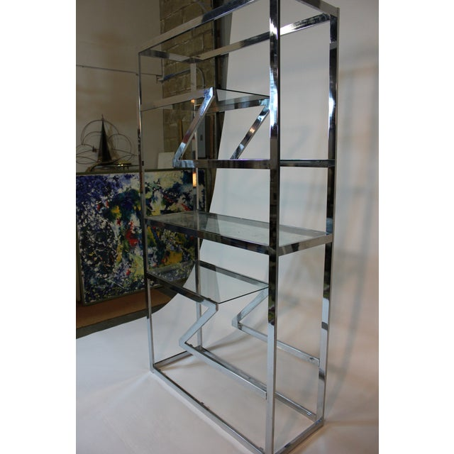70's Chrome and Glass Etagere - Image 5 of 5