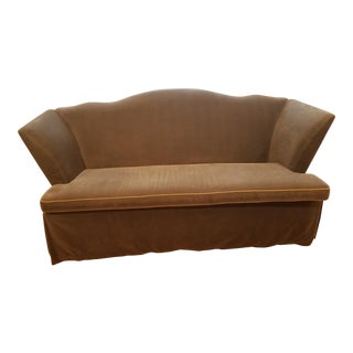 Lee Industries Italian Cambelback Velvet Sofa