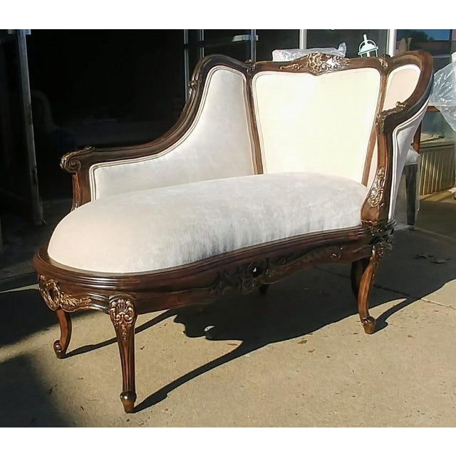 Henredon Furniture Sabine Mahogany Left Arm Chaise For Sale - Image 12 of 12