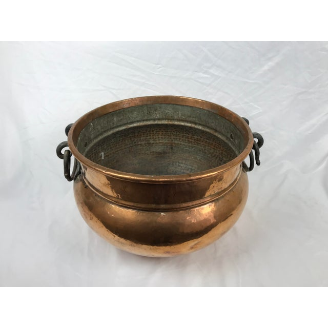 20th Century Traditional Hammered Copper Kettle Cauldron For Sale - Image 4 of 9