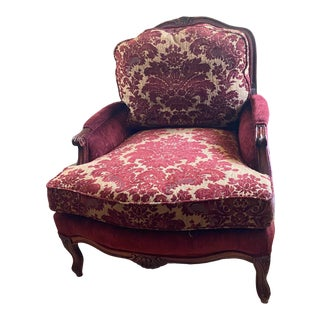 Fairfield Queen Anne Chair with Ethan Allen Fabric For Sale