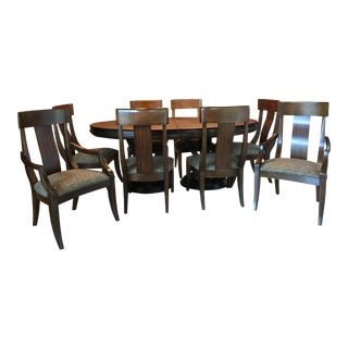 Bernhardt Satori Solid Wood Dining Set - Set of 9 For Sale