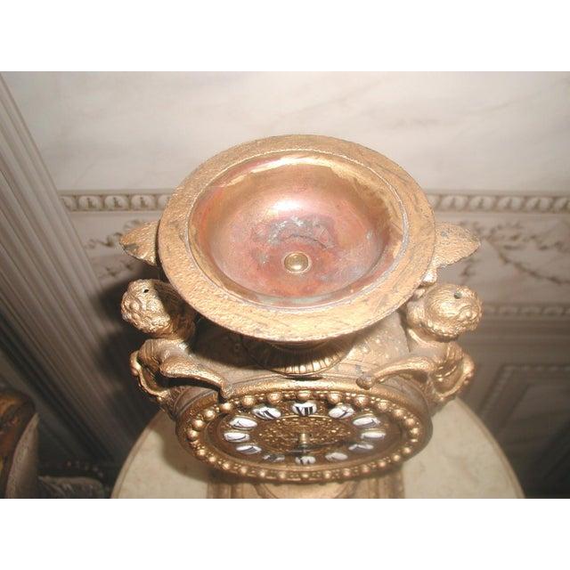 1890-1900 Mayer 8 Day Cherub Gilt Clock For Sale - Image 4 of 9