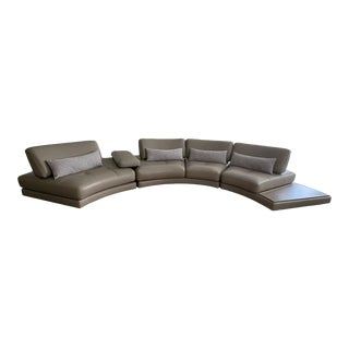 Roche Bobois Beach Bay Round Sectional Sofa with Pillows For Sale
