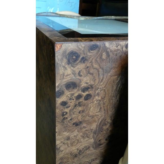 Vintage Milo Baughman Style Illuminated Burl Wood Pedestal - Image 7 of 7