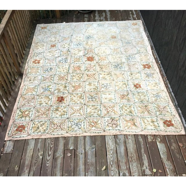 Treasure Chest Mutual hand-hooked rug circa 1920s. The seller says: We can date this rug to the 1920s as it retains the...
