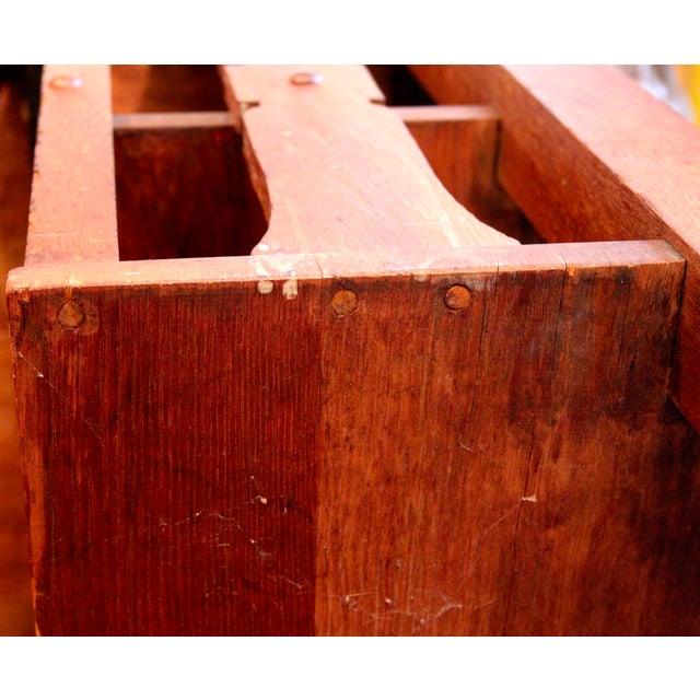 1920s Antique Stickley Desk Table Bookshelves Mission Oak Writing Desk For Sale - Image 12 of 13