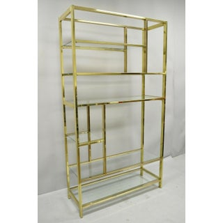 Vintage Mid Century Modern Brass Plated Metal Etagere Preview