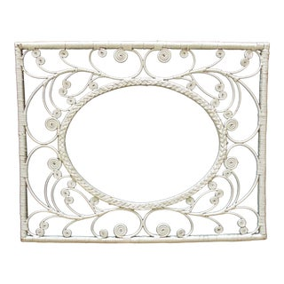Vintage White Wicker Frame For Sale