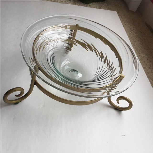 Art Glass Bowl For Sale - Image 9 of 11