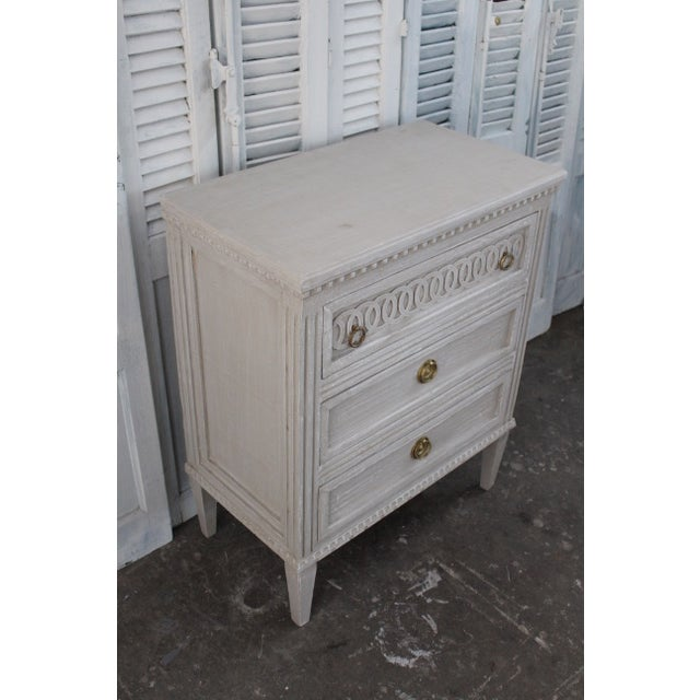 Metal 20th Century Swedish Gustavian Style Nightstands - A Pair For Sale - Image 7 of 12
