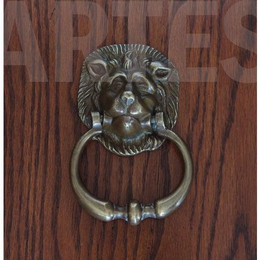 Antique English Brass Lion Door Knocker For Sale - Image 5 of 5 - Antique English Brass Lion Door Knocker Chairish