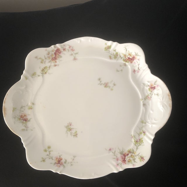 1940s French Haviland China Holiday Platters - A Pair For Sale - Image 9 of 11