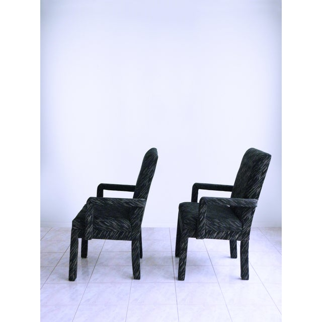 1980s Vintage Parsons Armchairs- A Pair For Sale In Chicago - Image 6 of 7