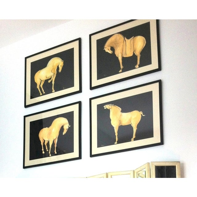 Asian Sienna Tang Horse III Painting by Heidi Lanino For Sale - Image 3 of 4