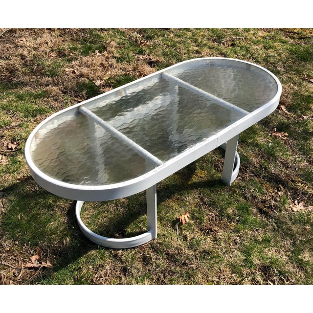 White Modern Winston Patio Coffee Table For Sale - Image 8 of 10